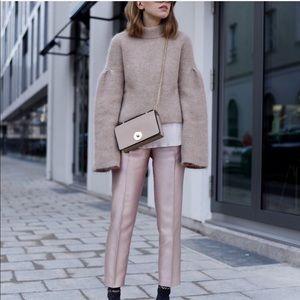 Zara rose gold pants